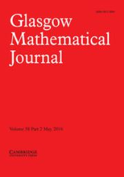 Glasgow Mathematical Journal